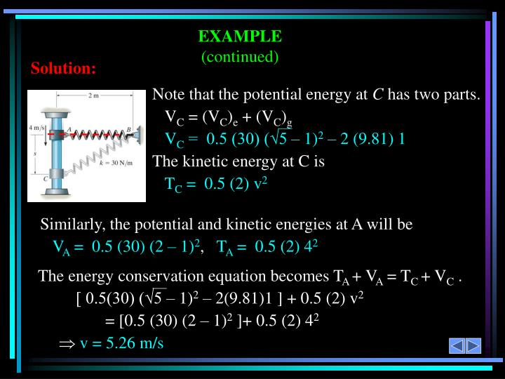 Note that the potential energy at