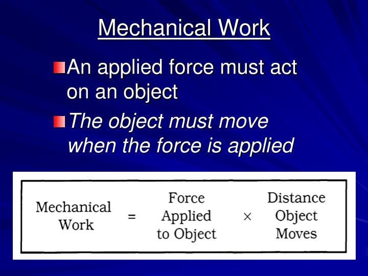 Mechanical Work
