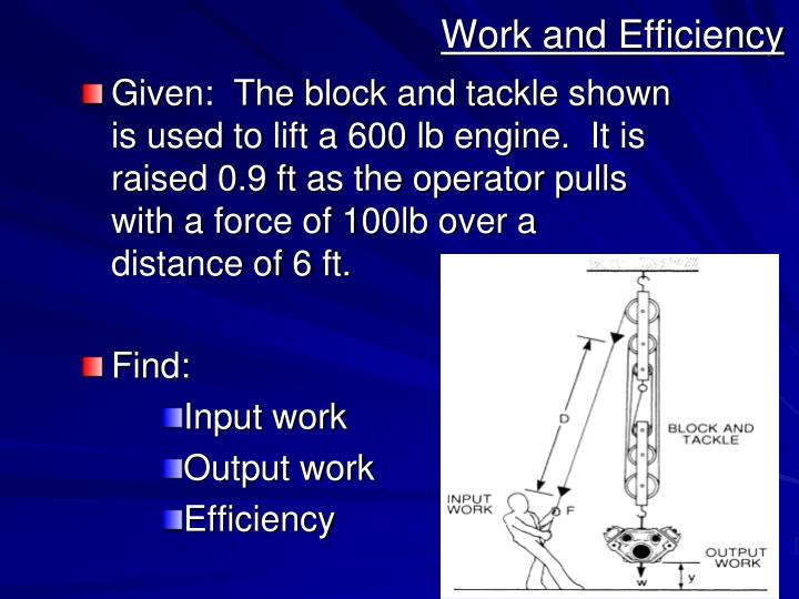 Work and Efficiency