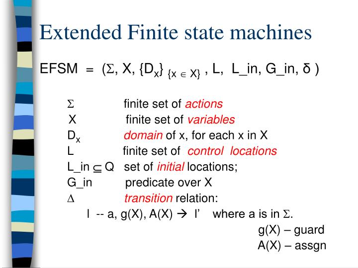 Extended finite state machines