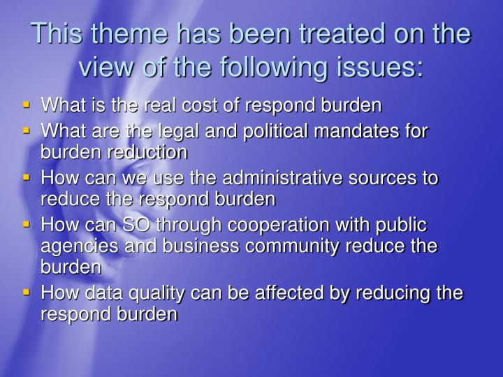 This theme has been treated on the view of the following issues