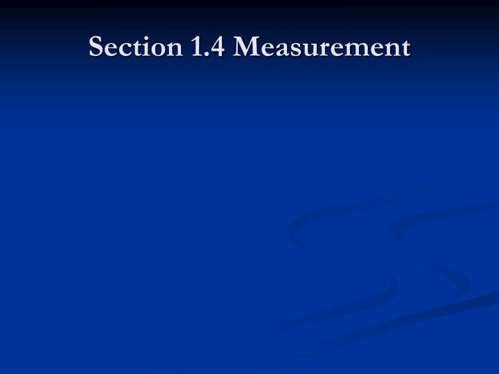 section 1 4 measurement n.