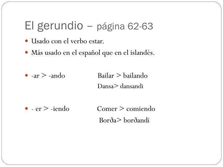 El gerundio p gina 62 63