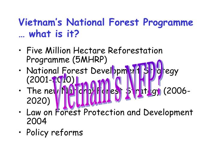 Vietnam's National Forest Programme … what is it?