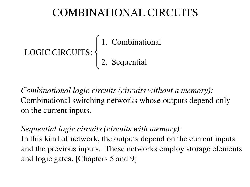 Sequentiallogic Circuitscombinational Logic Circuitsequential Logic