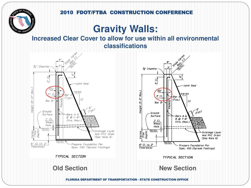 PPT - Design Standards 6000 Series Retaining Walls