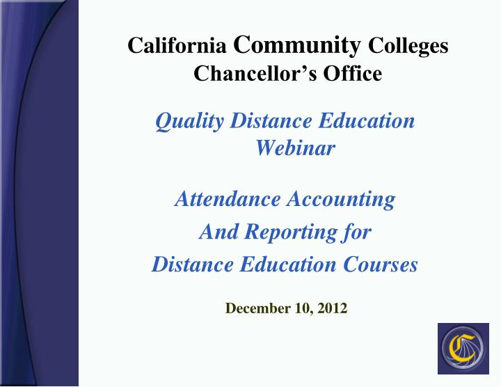California community colleges chancellor s office