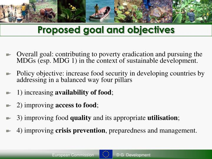 Proposed goal and objectives