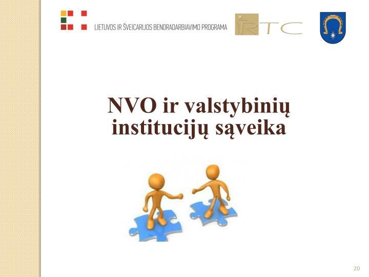 NVO ir valstybinių institucijų sąveika
