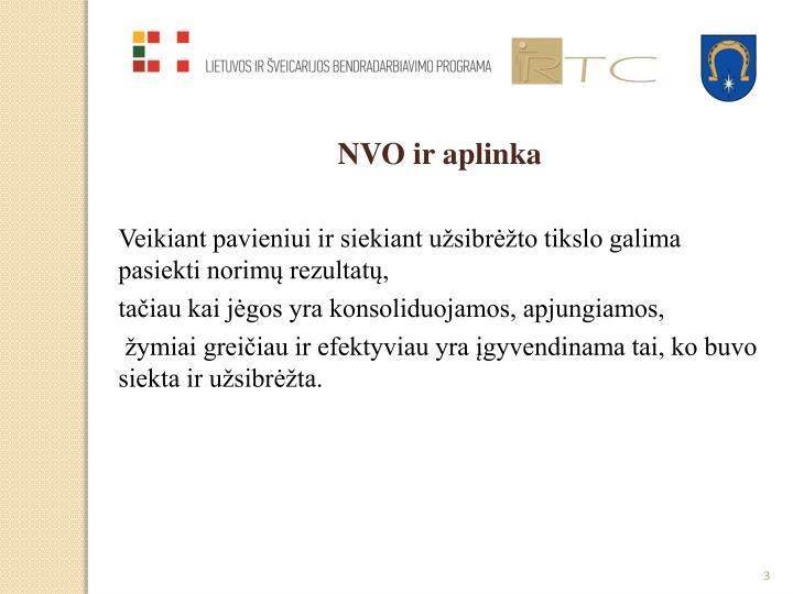 NVO ir aplinka