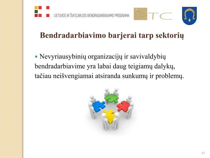 Bendradarbiavimo barjerai tarp sektorių