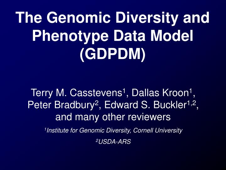 The genomic diversity and phenotype data model gdpdm