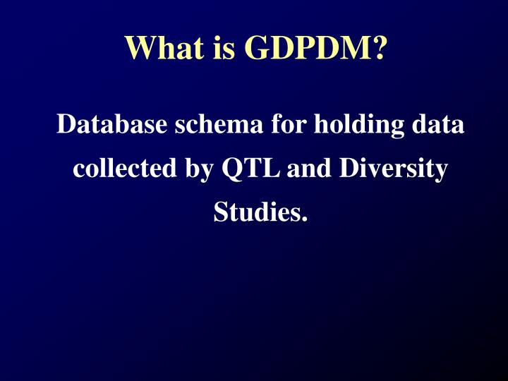 What is gdpdm