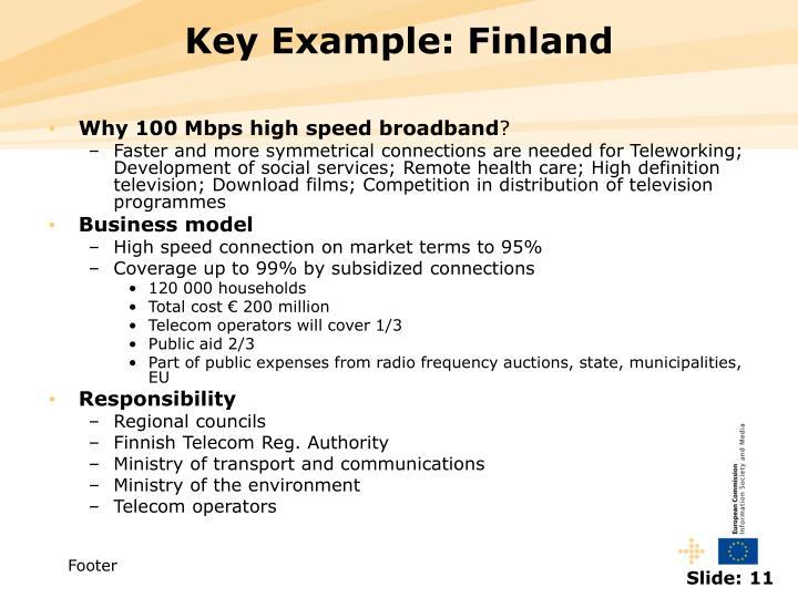 Key Example: Finland
