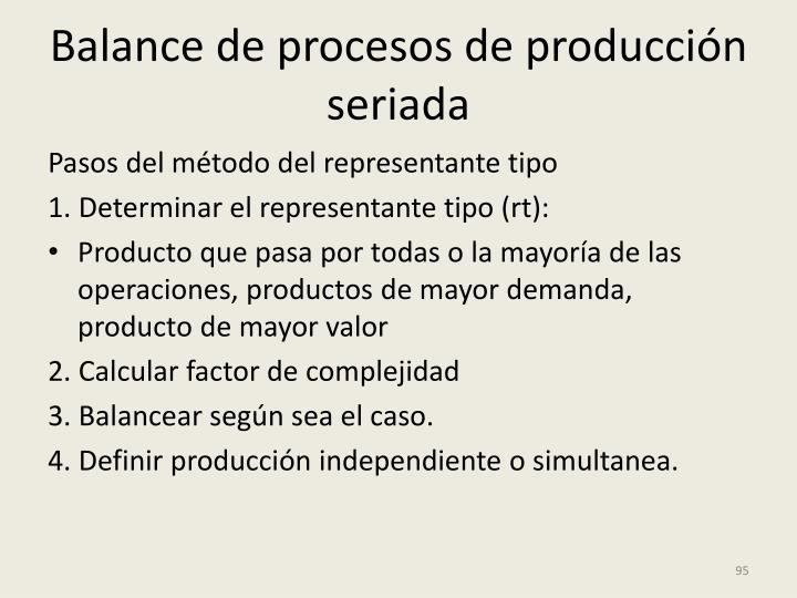 Balance de procesos de producción seriada