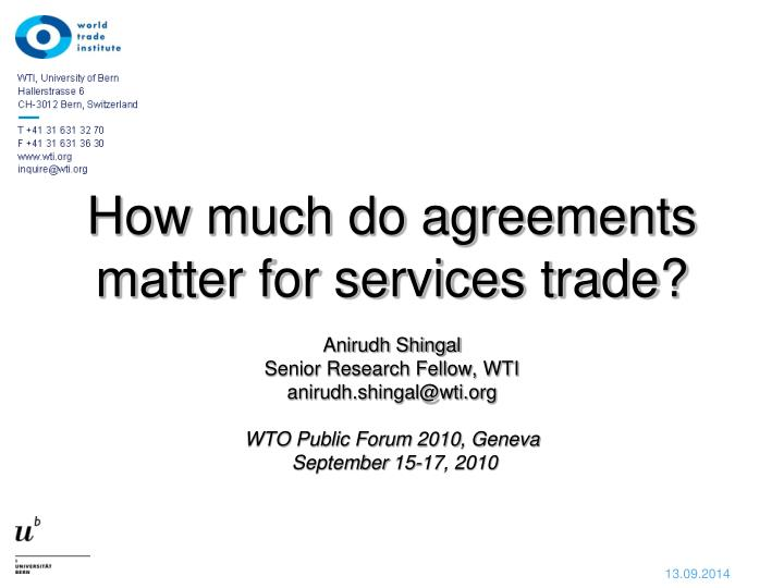 how much do agreements matter for services trade n.