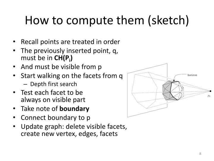 How to compute them (sketch)