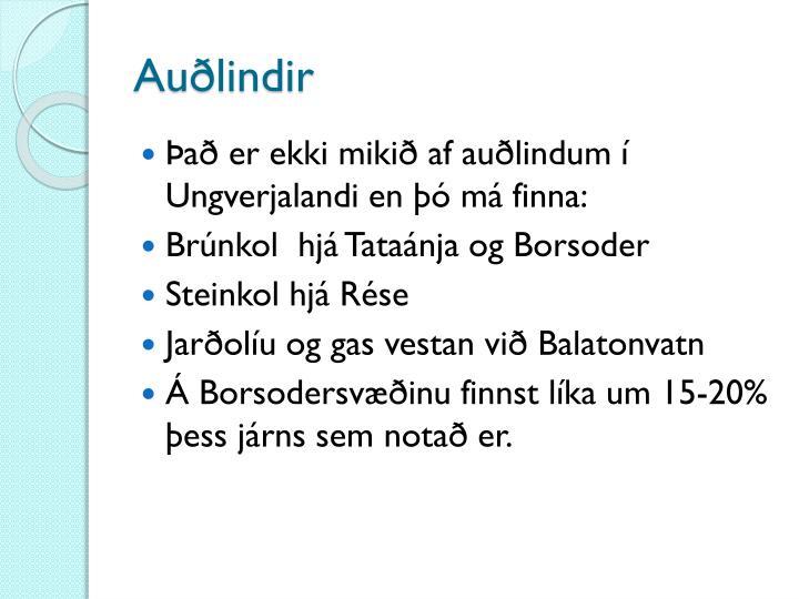 Auðlindir