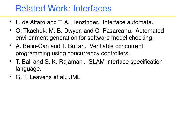 Related Work: Interfaces