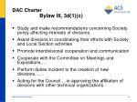 dac charter bylaw iii 3d 1 c