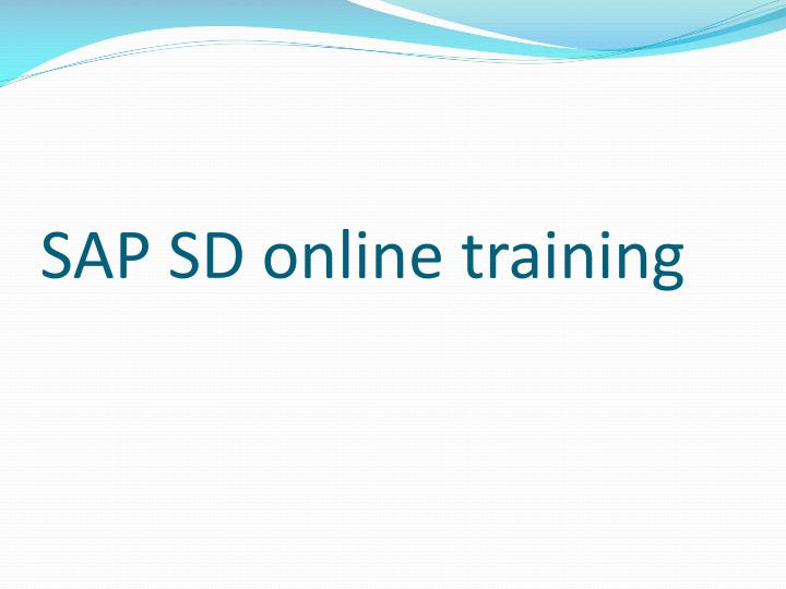 Sap s d online training