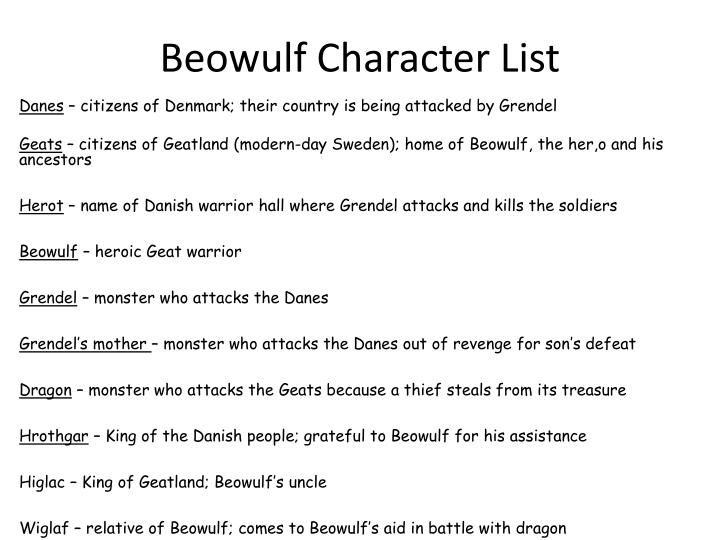 grendel in beowulf character analysis Start studying beowulf character analysis learn vocabulary, terms, and more with flashcards, games, and other study tools.