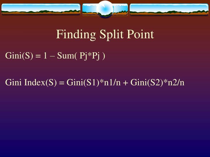 Finding Split Point