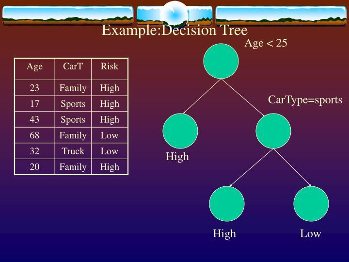 Example:Decision Tree