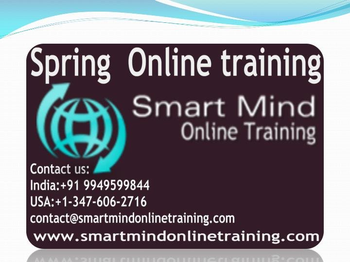 Spring online training online spring training in usa uk