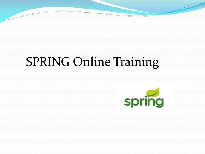SPRING Online Training