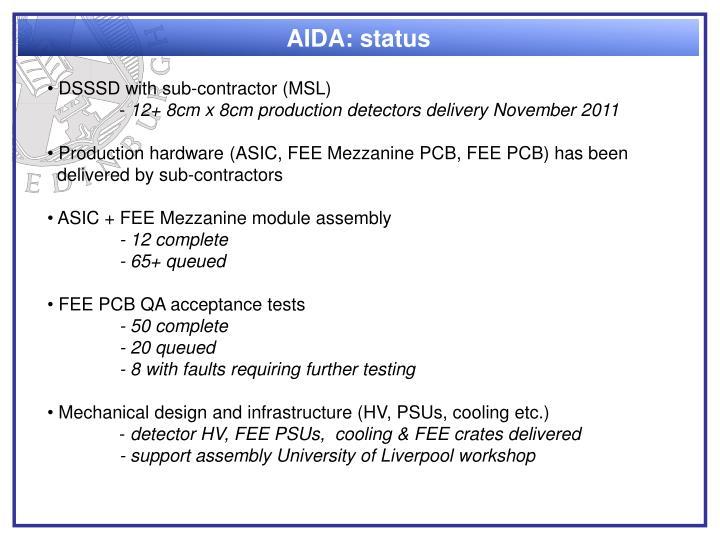 AIDA: status