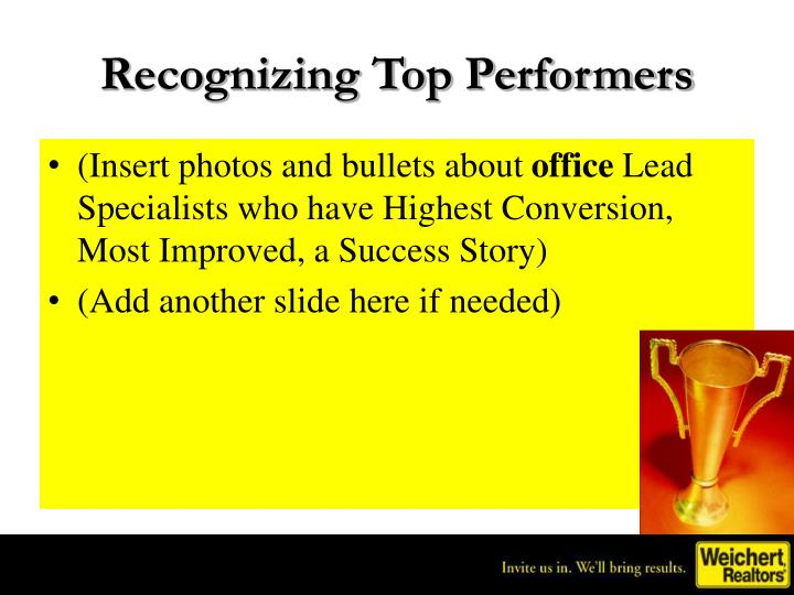 Recognizing Top Performers
