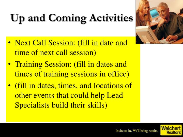 Up and Coming Activities