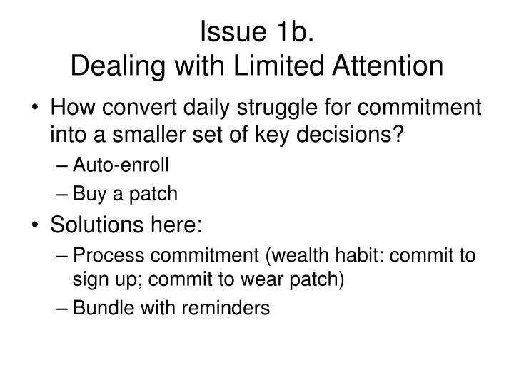 Issue 1b.