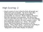 high scoring 2