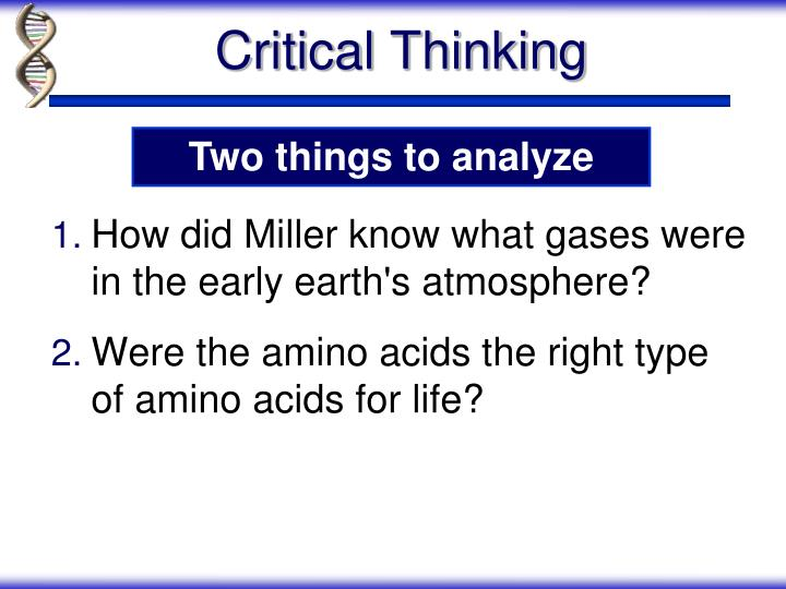 How did Miller know what gases were  in the early earth