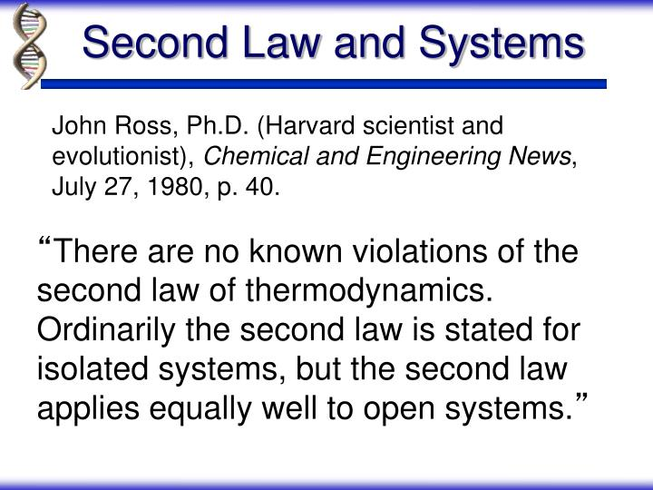 Second Law and Systems