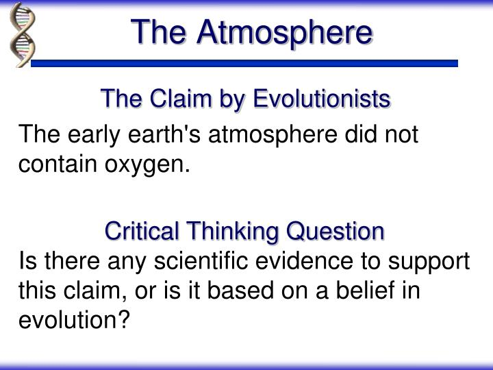 The Claim by Evolutionists