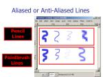 aliased or anti aliased lines