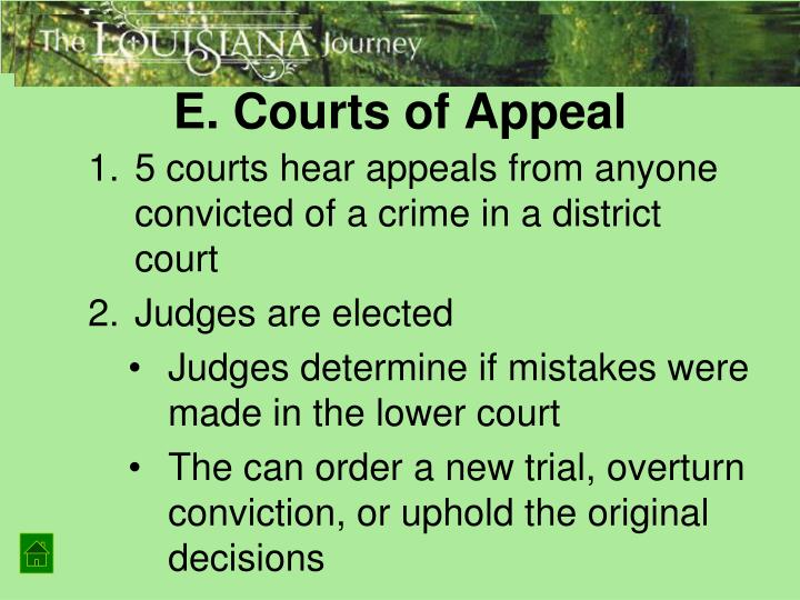 E. Courts of Appeal