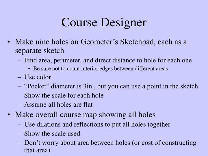 Course designer
