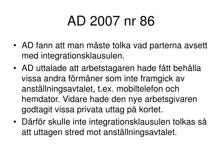 AD 2007 nr 86