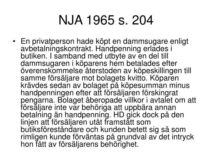 NJA 1965 s. 204