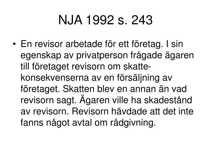 NJA 1992 s. 243