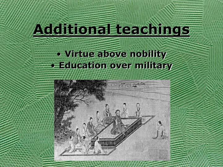 Additional teachings
