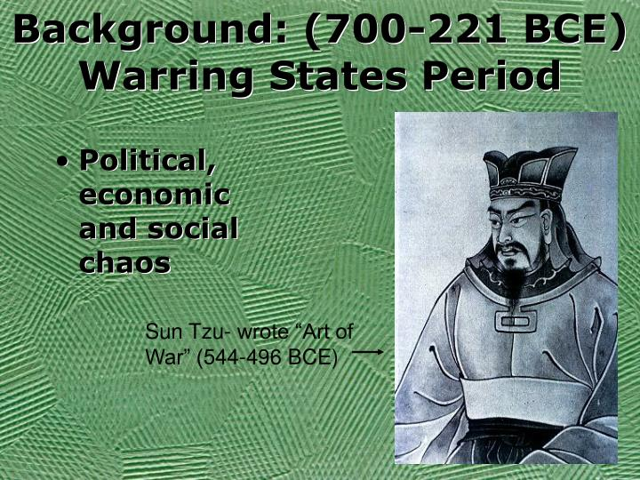 Background 700 221 bce warring states period