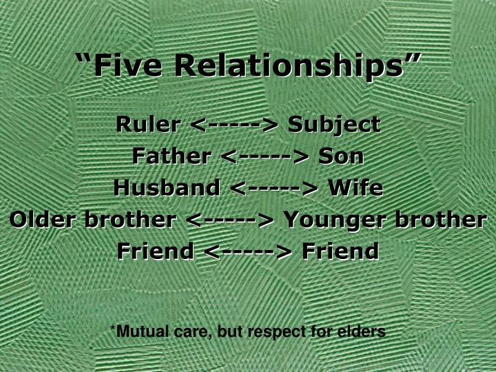 """Five Relationships"""