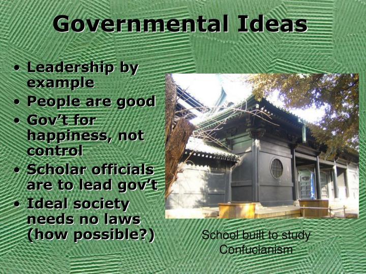 Governmental Ideas