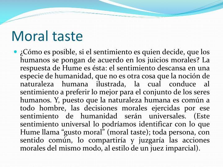 Moral taste