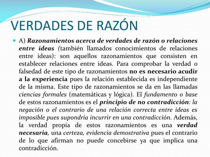 VERDADES DE RAZÓN